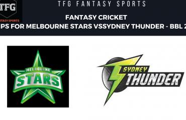 TFG Fantasy Sports: Fantasy Cricket tips for Sydney Thunder v Melbourne Stars BBL 08
