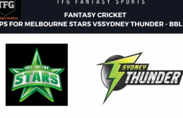 TFG Fantasy Sports: Fantasy Cricket tips in Hindi for Sydney Thunder v Melbourne Stars BBL 08
