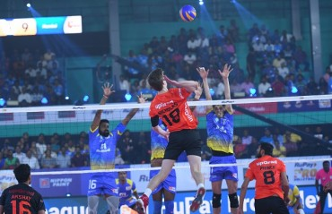 Kochi Blue Spikers register a dominating 4-1 win over U Mumba Volley on Day 1 of RuPay Pro Volleyball League