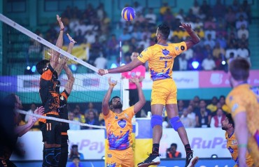Chennai Spartans register first win as they beat Black Hawks Hyderabad 4-1 on Day 6 of RuPay Pro Volleyball League