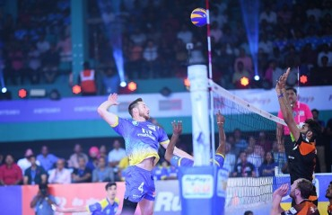Kochi Blue Spikers register hat-trick of wins as they beat Black Hawks Hyderabad 3-2 on Day 7 of RuPay Pro Volleyball League