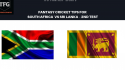 TFG Fantasy Sports: Fantasy Cricket tips for South Africa v Sri Lanka 2nd Test