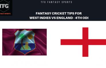 TFG Fantasy Sports: Fantasy Cricket tips for West Indies v England --4th ODI