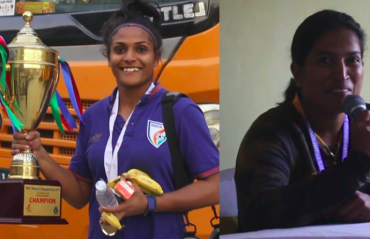 VIDEO -- Indian Women's Team head coach Maymol Rocky reacts to SAFF Championship victory