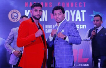 Boxing superstar Amir Khan to take on Indian Pro Boxer Neeraj Goyat in a blockbuster battle in Saudi Arabia
