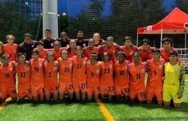 Indian Under 17 Women's team knock four past Hong Kong Under 18 team