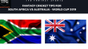 TFG Fantasy Sports: Stats, Facts & Team in Hindi for South Africa vs Australia
