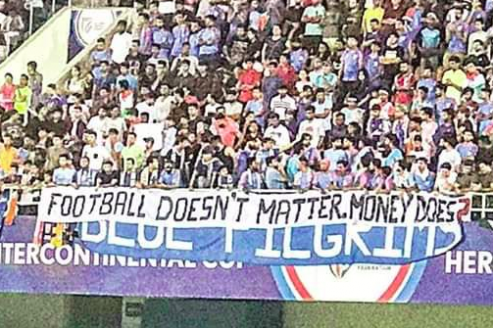 Blue Pilgrims face ire over banner calling out AIFF's mishandling of Indian football