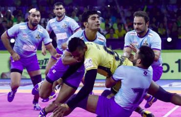 Pro Kabaddi 2019 -- Tamil Thalaivas get a hard fought 39-26 win over Telugu Titans