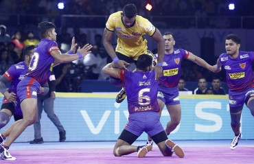 Pro Kabaddi 2019: In a nail-biting encounter, Dabang Delhi edged out Telugu Titans 34-33 to begin their season with a victory