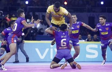 Pro Kabaddi 2019: In a nail-biting encounter, Dabang Delhi edged out Telugu Titans 34-33 to begin their season with a victory
