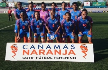 Indian WNT breeze past Mauritania in a 7 nil win in the COTIF Cup in Spain