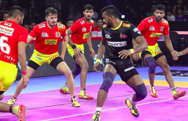 Pro Kabaddi 2019 HIGHLIGHTS -- Gujarat Fortunegiants outgun Telugu Titans by 6 points