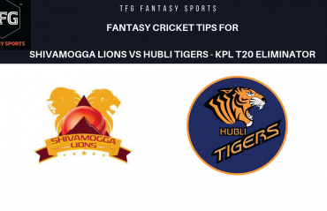 TFG Fantasy Sports: Dream11 fantasy cricket tips for Shivamogga Lions v Hubli Tigers- KPL T20 Eliminator