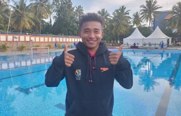Ramananda Sharma won the first gold medal in diving at the on-going 10th Asian Age Group Championships