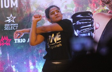 Full Video - Ritu Phogat's open workout in Delhi for ONE Championship - King of the Jungle
