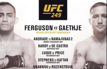 UFC 249 to go ahead with Tony Ferguson vs Justin Gaethje as main event