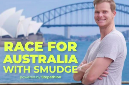 Steve Smith announces new fitness challenge - 'Race for Australia with Smudge powered by Stepathlon'