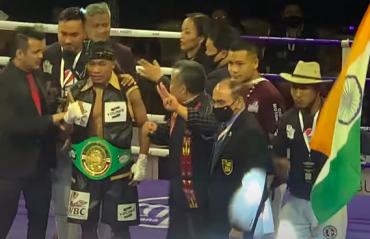 Boxing -- Lalrinsanga Tlau wins WBC Youth World Super Featherweight Championship