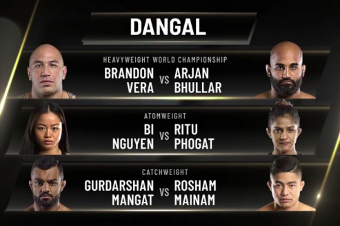 ONE Championship - Arjan Singh Bhullar gets title shot, Ritu Phogat, Roshan Mainam & Gurdarshan Mangat return in high profile 'Dangal' card