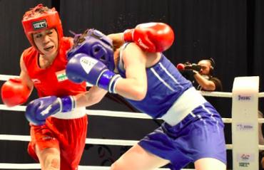 WATCH -- Mary Kom, Sakshi storm into finals of ASBC Asian Boxing Championships 2021