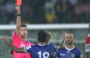 NorthEast vs Chennai: Cards abound, missed penalty in eventful half