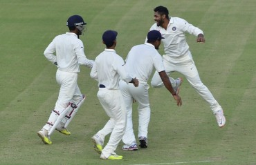 SPUN AWAY: Jadeja, Ashwin spin web around SA batsmen to wrap up 108-run win in 3 days