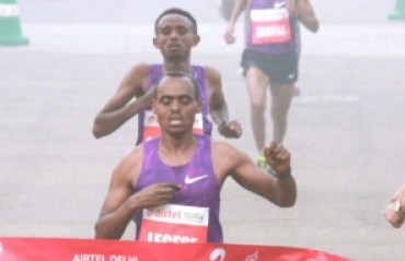 Legese, Cynthia win Delhi Half Marathon
