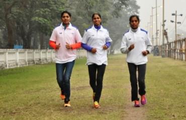 Olympic qualifying trio: Jaisha, Sudha  & Lalita gear up to go head-to-head at the Tata Steel Kolkata 25K on Sunday