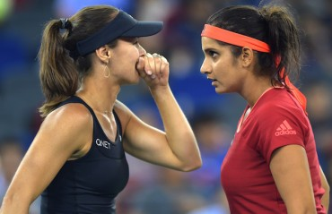 Sania/Martina go down in R2, crash out of the Indian Wells Masters