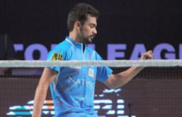 Unseeded Sameer stuns 4th seed to enter pre-quarters of Swiss GPG