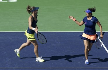 SanTina advance in Miami, Bopanna/Mergea suffer early exit