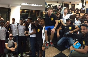 Mega Reunion: CSK & RR players re-unite after the Pune v Gujarat game