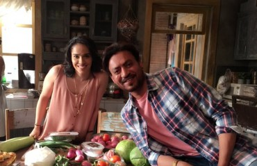 Saina paired with Bollywood actor Irrfan Khan for a shoot!