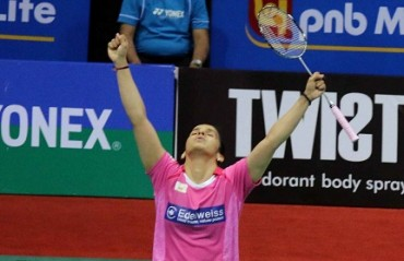 Saina Nehwal storms into the semi-final of Badminton Asia Championship