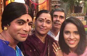 Saina Nehwal was seen on the Kapil Sharma show along with her parents