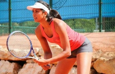 Karman Kaur, the lone face in the girl's category from India in RD 2 of French Open