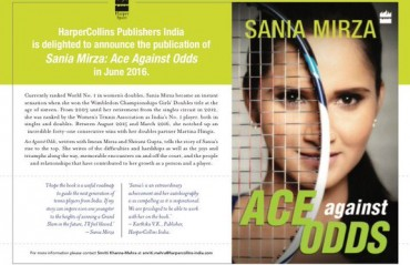 Sania's autobiography Ace Against Odds hits the stands