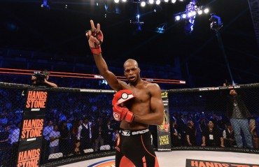 WATCH: Michael Page Knocks out Cyborg And 'catches' him with a Pokeball