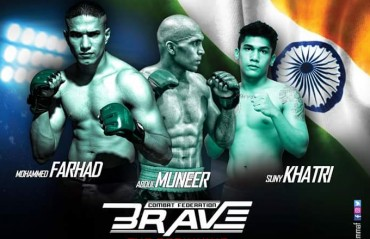 Fight Card for BRAVE Combat Federation Revealed: Three Indian Fighters on the card