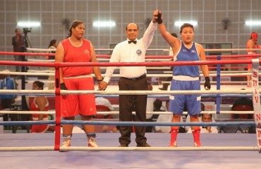World Championship silver medallist Sonia wins women boxing Nationals