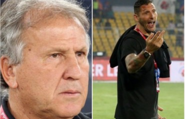 Zico pleased with the last gasp victory; Materazzi unhappy with the referee's decisions