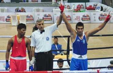 Olympic boxers Shiva, Manoj, Devendro win at men's Boxing Nationals