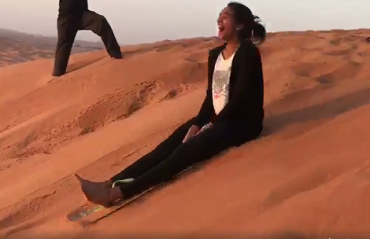 WATCH: PV Sindhu takes up new challenge, sandboards in Dubai