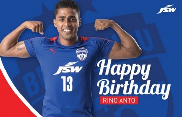 Bengaluru FC's Rino Anto receives birthday wishes from his fans and teams alike