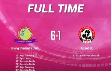 Rising Students thrash Aizawl in opening IWL clash; pitch condition raises concerns