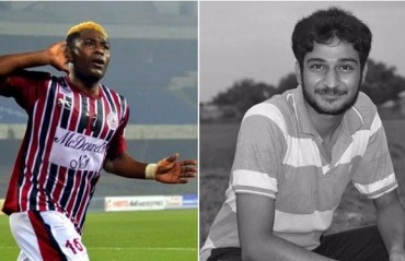 Sony Norde pays his respects to the Bagan fan who died in an accident following the Derby