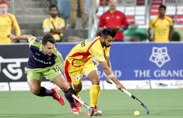 Manpreet Singh stars in Ranchi Rays' 6-2 win against Delhi Waveriders