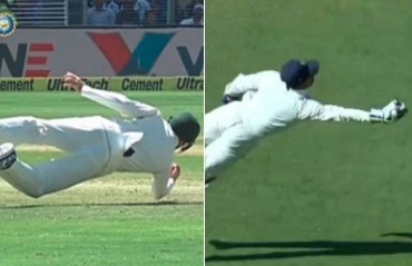 WATCH: After 'Superman' Saha, Handscomb does a 'Solkar' during Pune Test